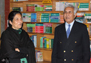 Mrs.Kiran Dhar and Mr. Wajahat Habibullah taking a tour of the school.