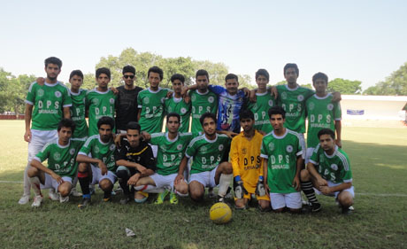 D.P.S makes it to Quarter Finals in Football Tournament