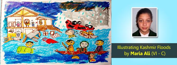 Kashmir Floods Illustrations