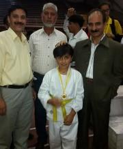 Sehr Un Nisa bags Gold Medal in district level Inter School Ju-Jitsu Championship