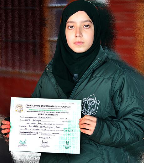 Sadiya Bilal bags Silver Medal in CBSE North Zone 1 Taekwondo