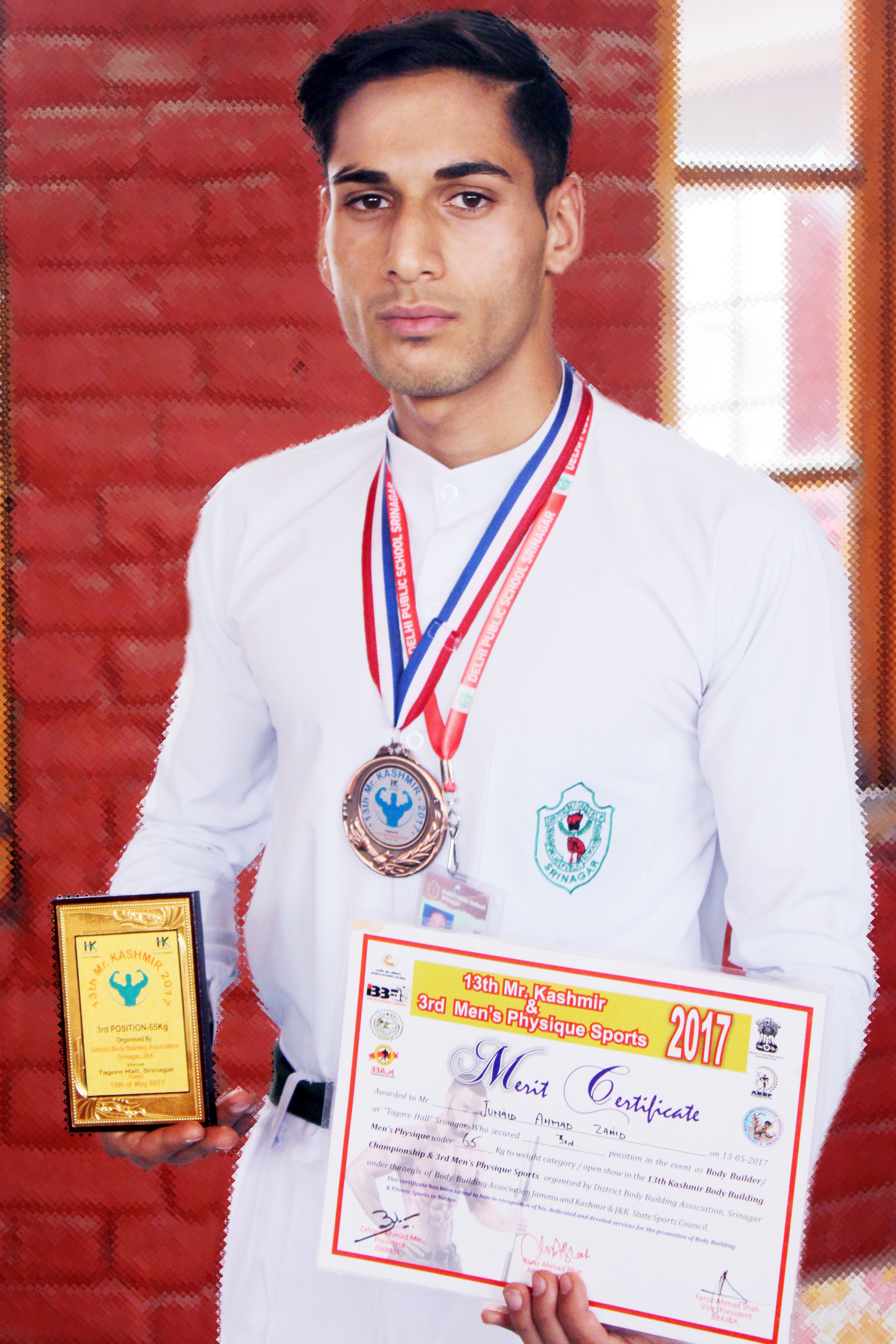 Dipsite receives third position in Mr.Kashmir Competition
