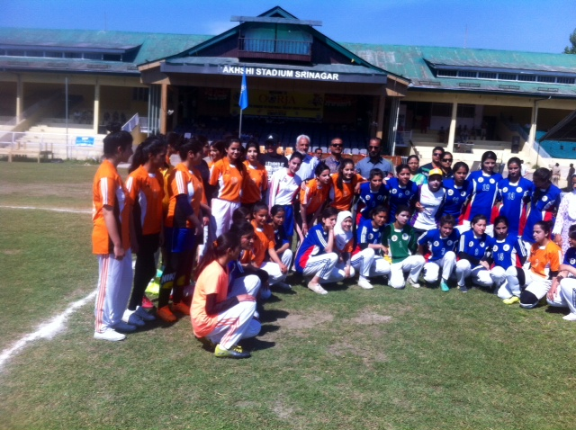 DPS girls participate in Oorja Football Tournament