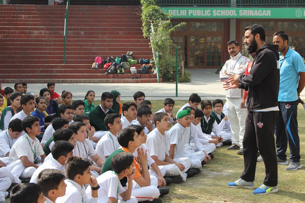 Celebrated footballer Mehraj-ud-Din Wadoo organizes football training session