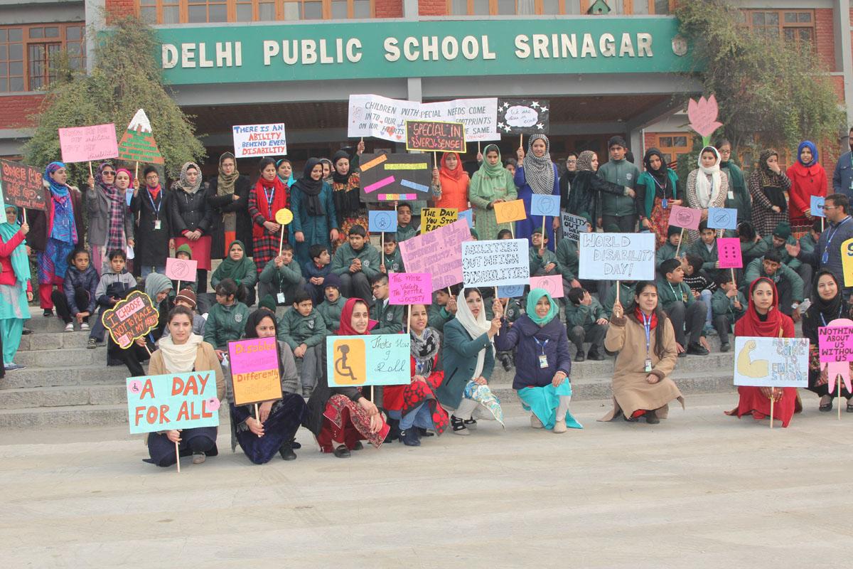 DPS Srinagar celebrates World Disability Day