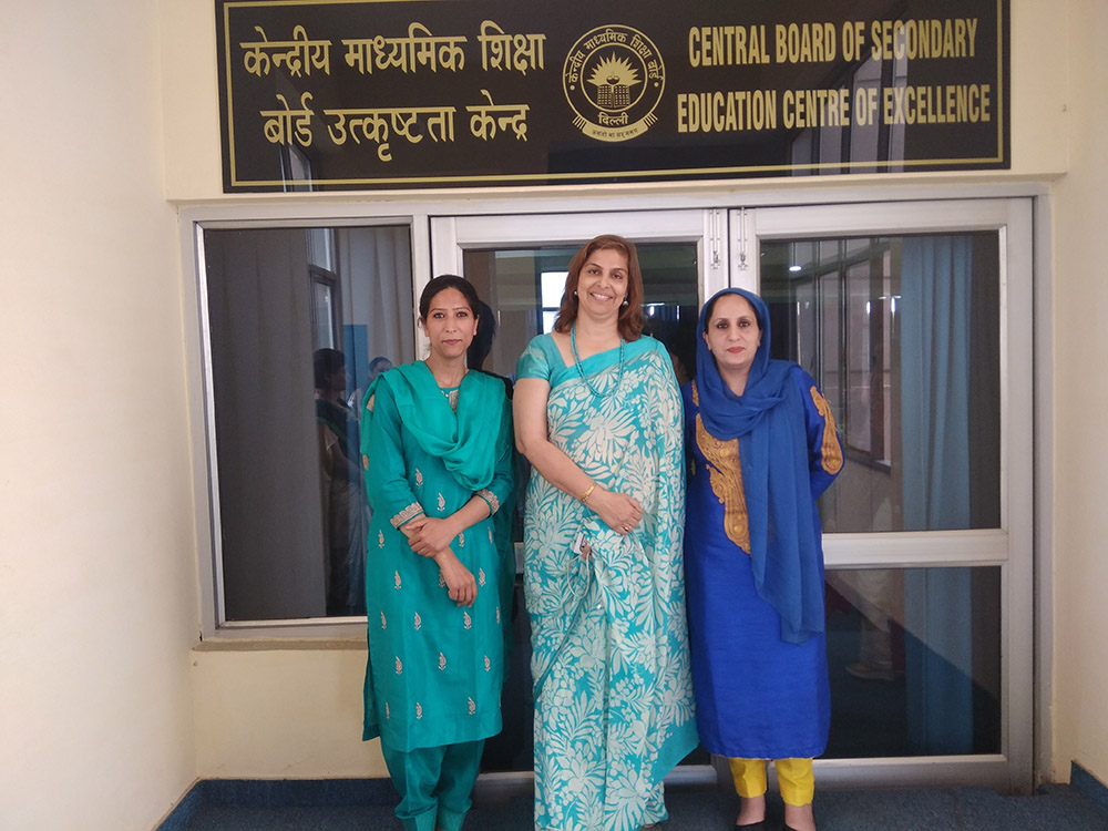 Ms Mushkeen and Ms Sheeba attend two day CBSE capacity workshop at Panchkula
