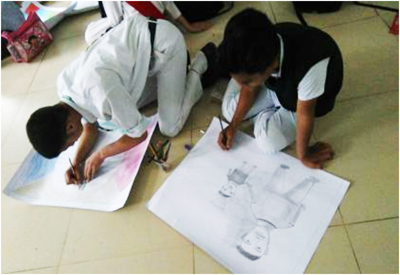 School secures 2nd and 3rd position in Art Competition