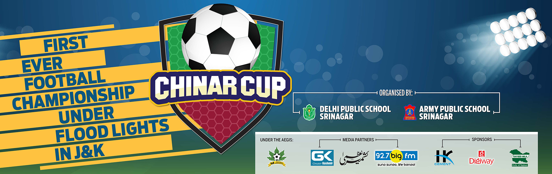 First of its kind night football tournament held by DPS Srinagar starts tomorrow