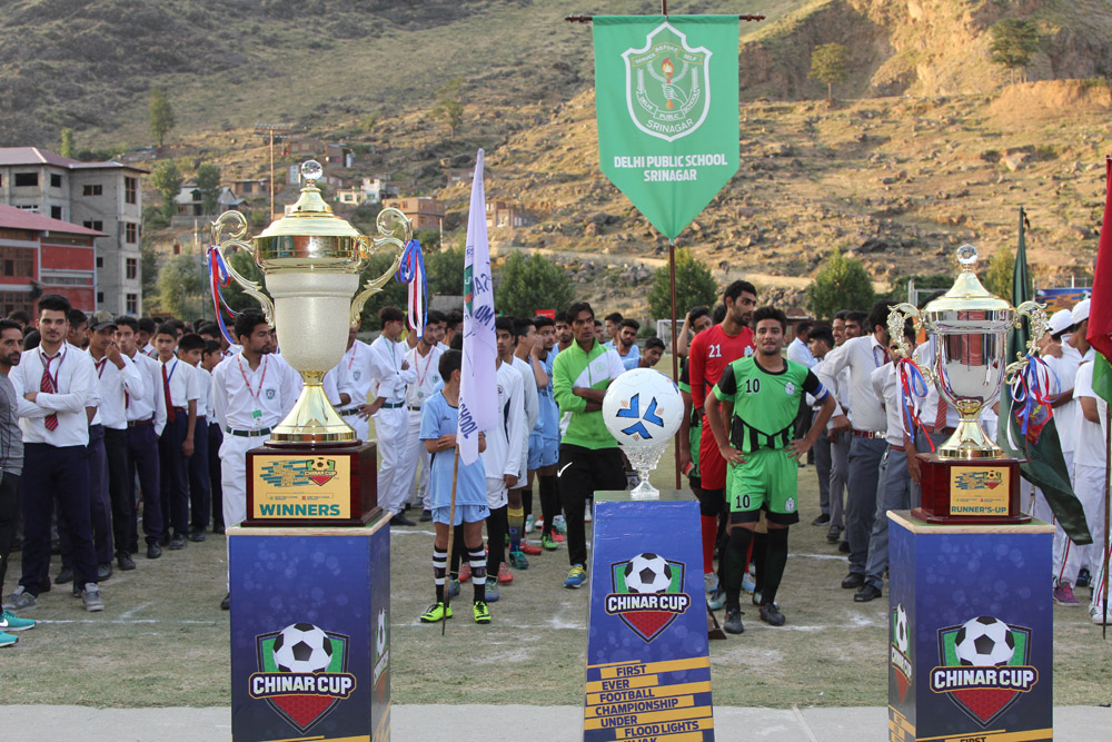 First of its kind night football tournament held by DPS Srinagar starts