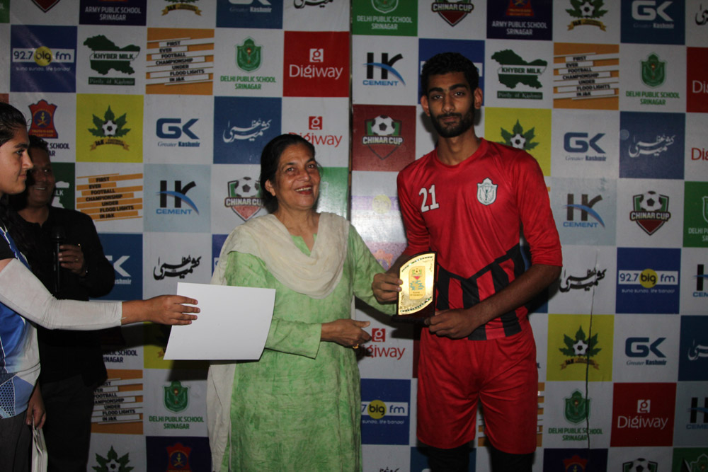 First semi-final of night football tournament 'Chinar Cup' held