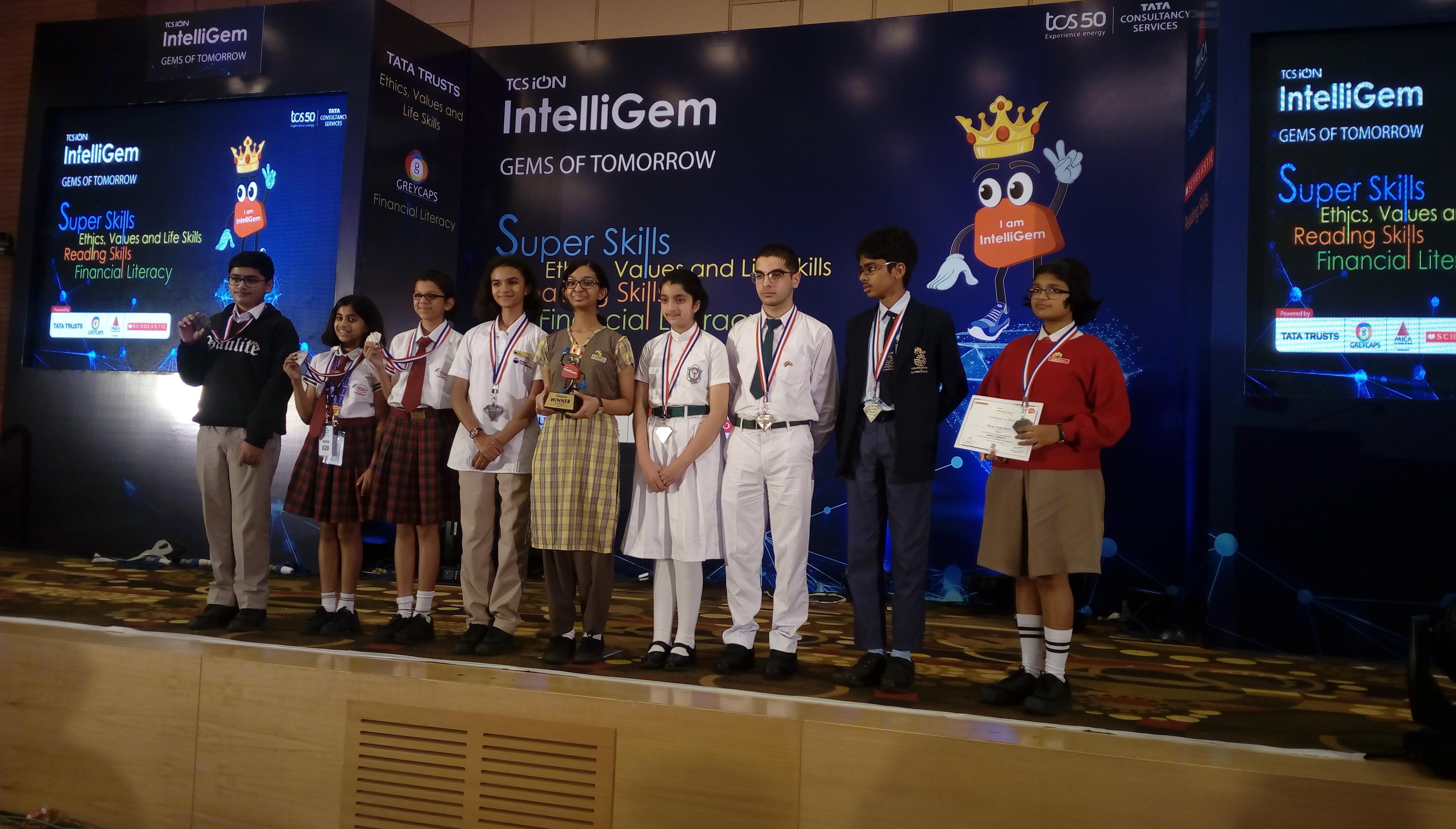 DPS Srinagar is runner-up at TCS iON Intelligem