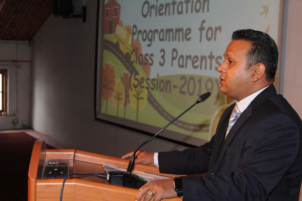 Parent Orientation of class 3rd