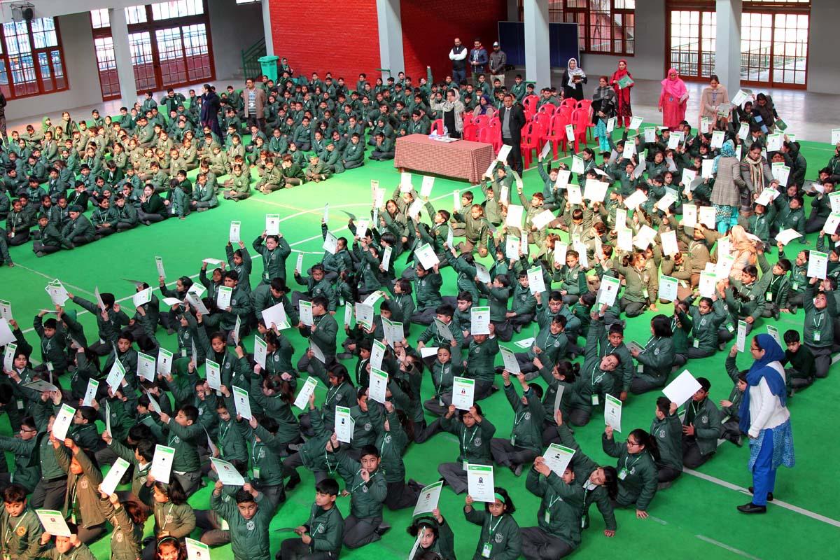 Graduation ceremony for junior school organized