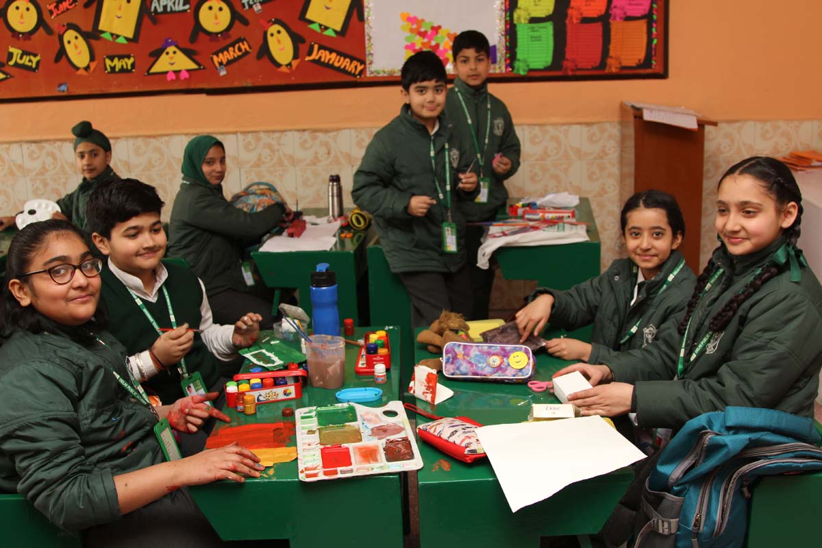 Commercial art activity conducted across the school