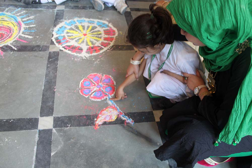 Rangoli activity at LRC