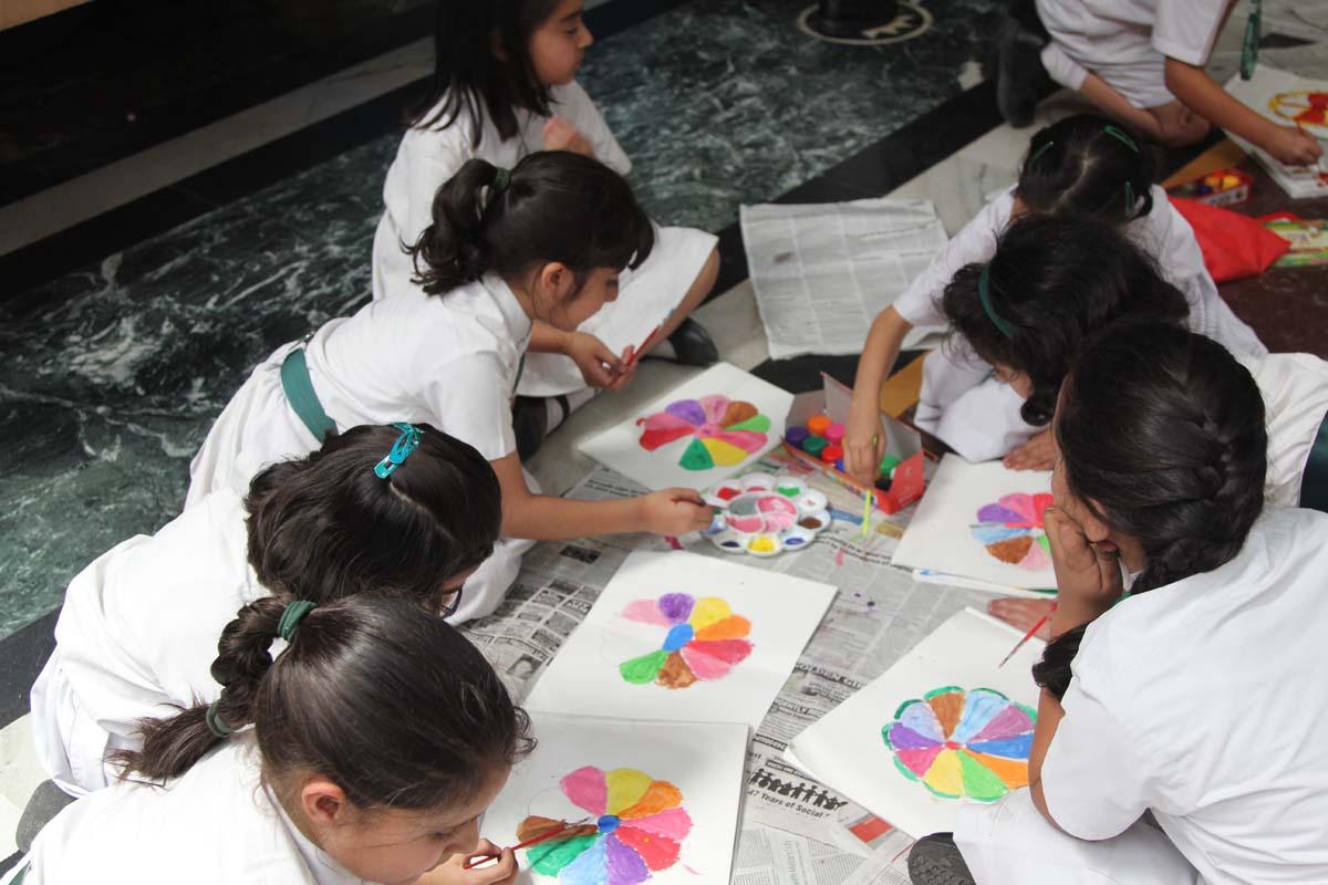Rangoli activity held