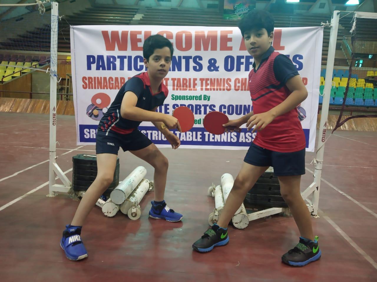 DPS Srinagar twins to clash in the finals of TT championship
