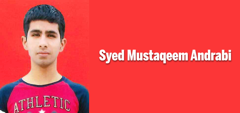 Syed Mustaqeem Andrabi secures 85 percent in class 10th CBSE Exam