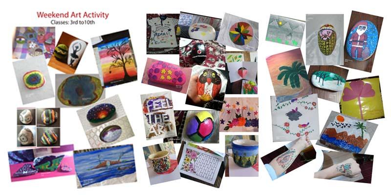 Art activity organized
