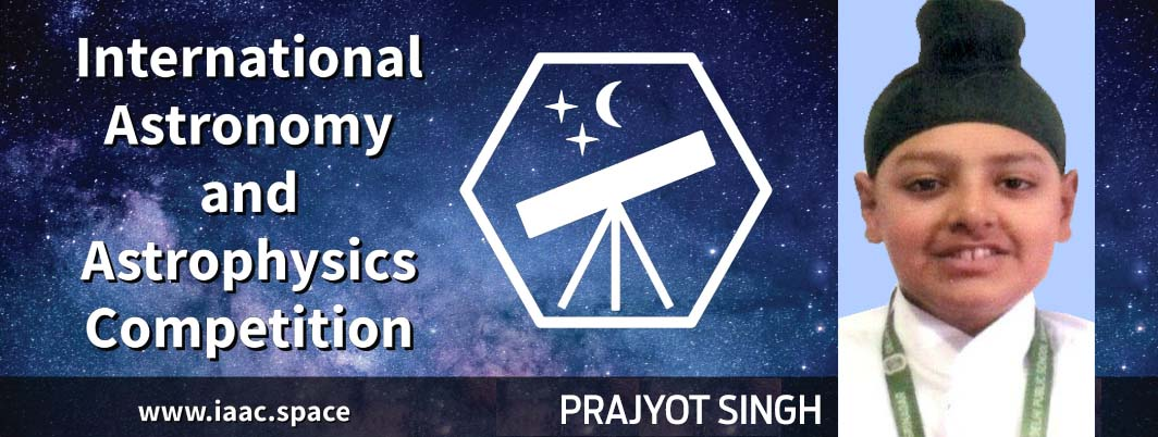 Prajyot Singh winsSilver Medal in International Astronomy and Astrophysics Competition