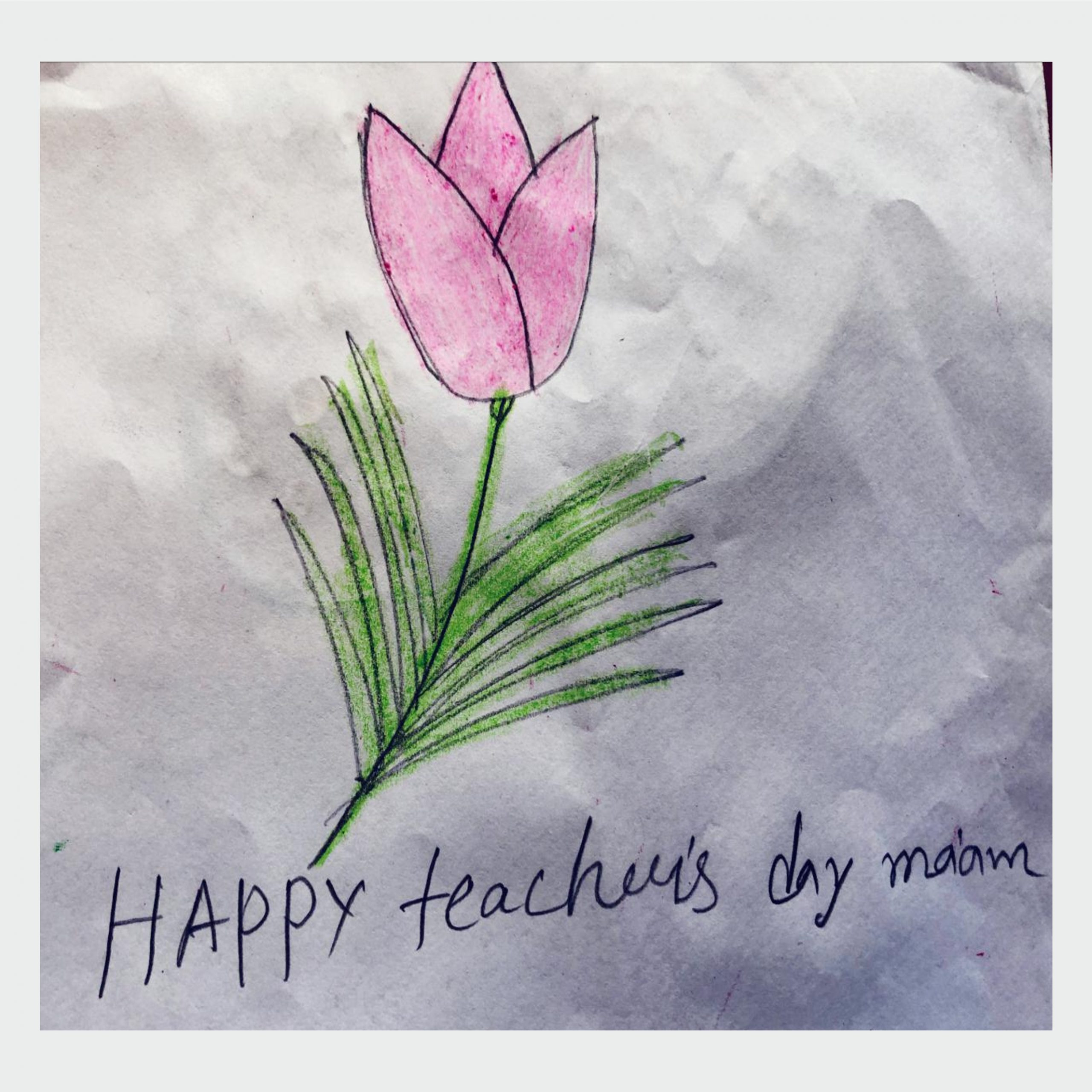 Students wish teachers on Teacher's Day