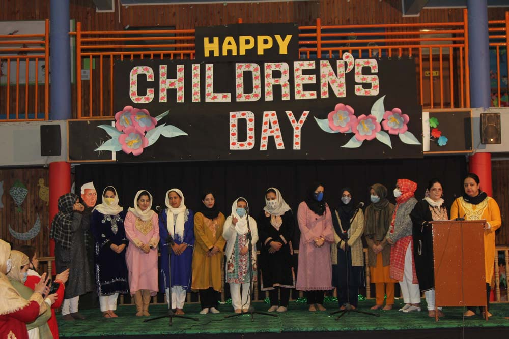 Children's day celebrated at the school