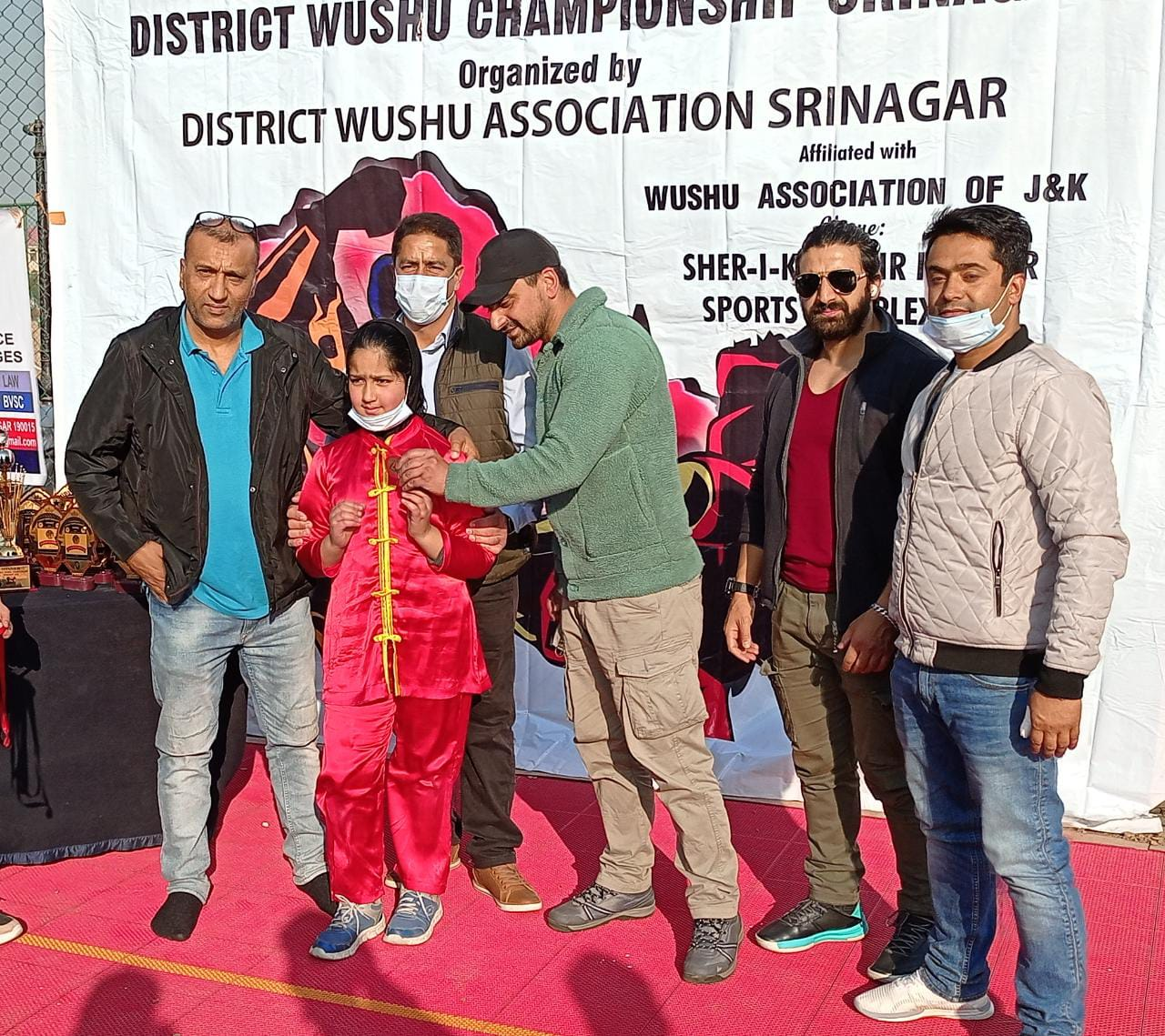 DPS Srinagar Students win medals in Wushu